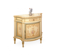 1 door sideboard ivory with gold and sky blue colour