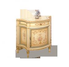 mobile 1 porta con cassetto avorio con oro con sovratinta azzurra