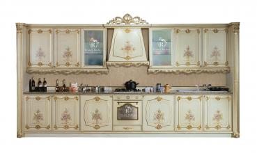 cucina barocco in massello intagliata a mano da fratelli radice