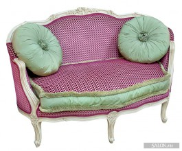 small sofa ivory lacquered in velvet