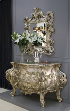 Baroque style chest of drawers with mirror