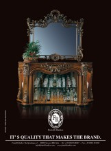 Baroque style fireplace with mirror handmade carving