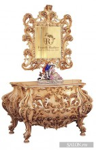 Venetian Baroque Style chest of drawers and Mirror