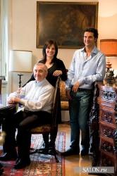 Gianfranco, Elisa and Tiziano Radice