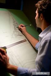 Tiziano Radice is drawing