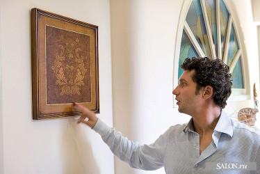Tiziano Radice shows the picture