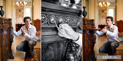 Tiziano Radice shows antique sideboard